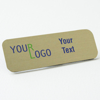 nam tag color printed brushed aluminum gold round corners