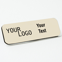 name tag engraved plastic almond black round corners
