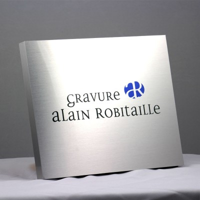 award plaque - bloc metal printed