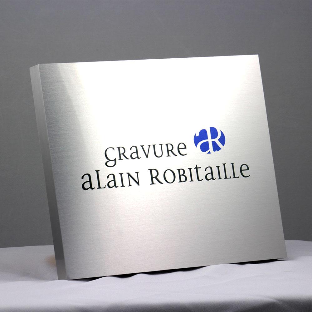 award plaque - bloc metal printed