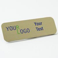 nam tag color printed brushed aluminum gold round corners
