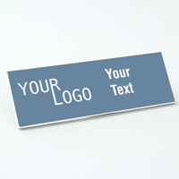 name tag engraved plastic china blue white square corners