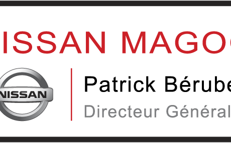 Magnetic custom name tag – Color metal printed – For car dealer 1