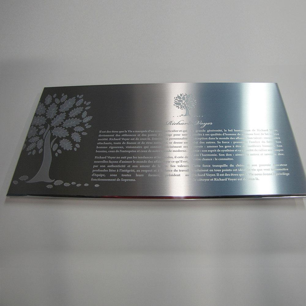 award plaque - honora - mirror